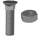 Bolt with square neck 12.9