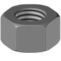 Bolt with conical head and 2 flat sides 12.9