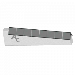 EMBOUT COUTRE A SOUDER L  200, CARBURE SUR 180mm