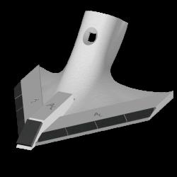 Soc Triangulaire Vaderstad C1027505 - Largeur 240mm