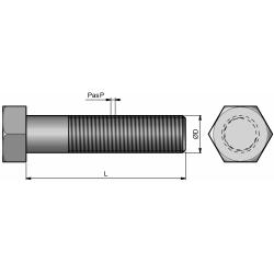 BOUL. TH M12/150*35 - Cl.10.9 - R/19 + Ecrous Oblongs Din 980V